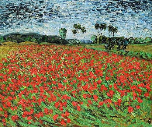 Field of poppies Van Gogh